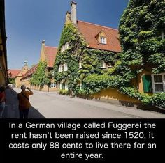 """unbelievable-facts: """" In a German village called Fuggerei, the rent hasn't been raised since costs just 88 euro cents to live there for an entire year. Oh The Places You'll Go, Cool Places To Visit, Places To Travel, Travel Destinations, Nice Places To Live, German Village, I Want To Travel, To Infinity And Beyond, Adventure Is Out There"""