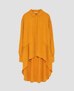 Image 8 of LONG ASYMMETRIC SHIRT from Zara