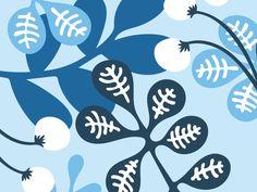 Blue leaves pattern