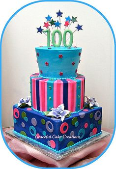 adult birthday cakes - Graceful Cake Creations @Jess Liu Laughter - without the 100, of course!