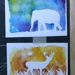 watercolor painting ideas for kids--watercolor silhouettes