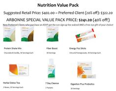 40% off the set PLUS earn Arbonne Bucks toward future purchases!!! Slim down and gain energy in 30 days GUARANTEED!