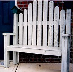 picket fence bench would be really cute painted/stenciled