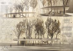 Propuestas presentadas al Concurso de Arquitectura para Estudiantes y Jóvenes Arquitectos Basel Pavilion of Culture Organizado por ARCHmediu...