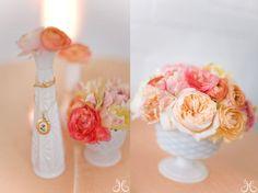 ranunculus and garden roses