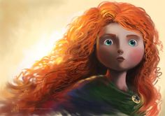 Merida from upcoming Pixar film Brave -  her gorgeous hair colour is usually paired with saturated greens and blues, and her eyes are Cockatoo. Do Pantone and Pixar talk to each other?