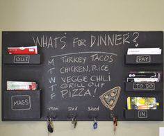 DIY Idea: Make a Chalkboard Wall-Mounted Home Organizer | Home Decor News