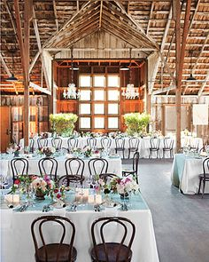 Like the lighting, the chairs, and of course the rustic ambiance of the barn.