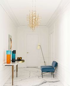 MAD ABOUT INTERIOR DESIGN — In Paris, under the Eiffel Tower, a 1960s...