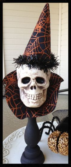 Fancy Skull Halloween Decoration for Halloween Party Hats, The - skull halloween decorations