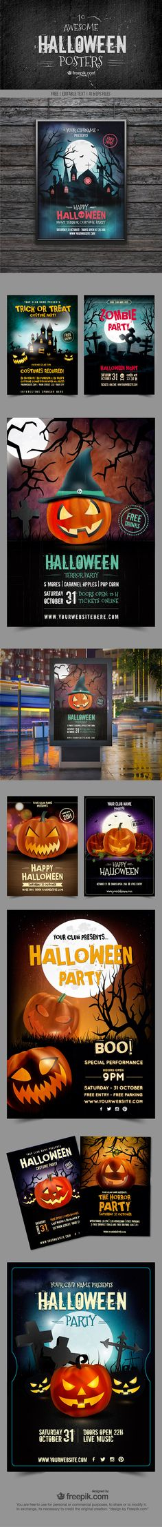 Freebie: 10 Awesome Halloween Posters