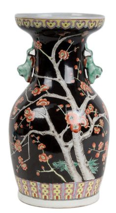 China 20. Jh. - A Chinese Famille Rose Baluster Vase - Vaso Cinese Chinois Chino