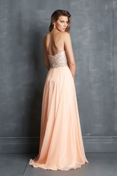 Pure Chiffon Sweetheart A Line Floor Length Beaded Bodice Prom Dresses