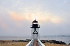 A woke up early to catch the #sunrise on #Nantucket Island at the famous Brandt Point #Lighthouse.