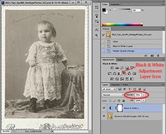"""""""Using Adjustment Layers To Fix Heritage Photos"""" ~ Tutorial created in Adobe Photoshop CS6 using Windows 7 ~ Heritage photos are a favorite to use on my digital scrapbooking pages. Most of my old photos have faded and have some form of color cast. In this tutorial, you will learn how to use adjustment layers in Photoshop to fix these problems on old black and white photo."""