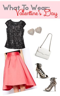 What To Wear: Valentine's Day Outfit #pink #snakeskin #sequins
