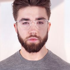 Here's looking at ya! @Ryan wearing the in-trend transparent Rhodes frames! Transparent Glasses Frames, Glasses Online, Rhodes, Eyewear, Women, Eyeglasses, Sunglasses, Eye Glasses, Glasses