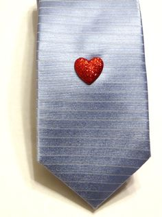 Valentine Heart Lapel Pin or Tie Tack - Red Valentine's Day Love Holiday Accessory - Gift. $3.50, via Etsy.