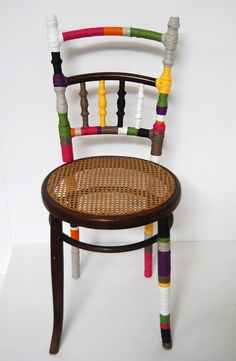 chaise ruban by zodio (projects, crafts, DIY, do it yourself, interior design, home decor, fun, creative, uses, use, ideas, inspiration, 3Rs, reduce, reuse, recycle, used, upcycle, repurpose, handmade, homemade, materials, create)