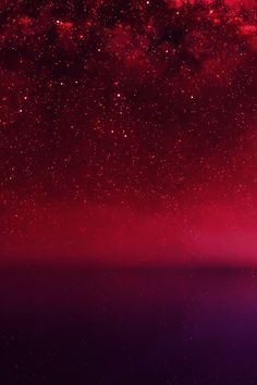 Cosmos Red Night Live Lake Space Starry #iPhone #4s #wallpaper