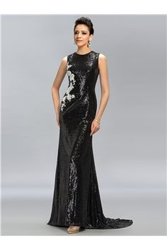 Vintage Scoop Sequins Sweep Train Evening Dress  purchase from Ericdress.com on discounted price.