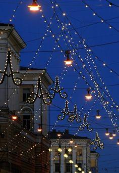 Alexander Street Christmas Lights. Helsinki, Finland