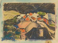 Drevorubačská dedinka Kľak - Edmund Gwerk. 1932 Artists, Painting, Painting Art, Paintings, Painted Canvas, Artist, Drawings