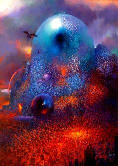 Paul Lehr (1930-1998), City with Eyes in Blue, 1989 ______ See more on: ♥…