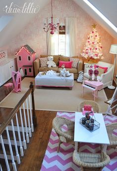 Dear Lillie: A Very Pink Christmas Playroom