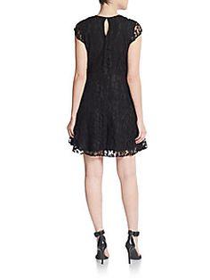 Elora Lace Fit-&-Flare Dress