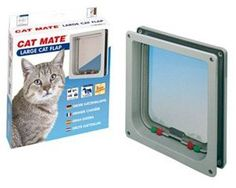 Cat Mate 4 Way Locking Cat Flap in Grey Color *** Additional details at the pin image, click it  : Furnitures that cats love