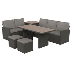 Ensemble à diner modulaire pour patio « Luxembourg », 6 pces