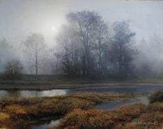 Renato Muccillo |Early November at Dawn. Oil on Linen.