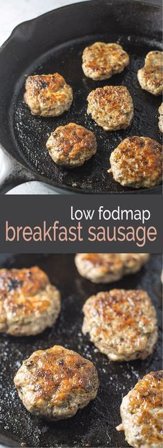 Gluten free and Whole 30 Compliant, this Low Fodmap Breakfast Sausage recipe offers classic breakfast flavor without the garlic or onion powder! mama world recipes Yummy Recipes, Dairy Free Recipes, Cooking Recipes, Beef Recipes, Dinner Recipes, Yummy Food, Potato Recipes, Vegetarian Recipes, Fodmap Breakfast