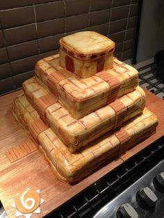 Pyramid inca Birthday cake