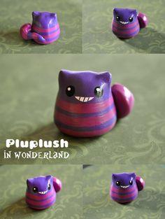 Cheshire Cat clay charm ^~^
