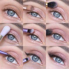 Пошаговый макияж глаз с палеткой Maybelline The Blushed Nudes - Ann's blog
