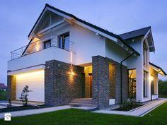 Z CHARAKTEREM 3 - realizacja projektu - Średnie jednopiętrowe domy jednorodzinne z dwuspadowym dachem murowane, styl nowoczesny - zdjęcie od DOMY Z WIZJĄ - nowoczesne projekty domów