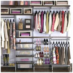 open closet- love this one. I can tell its elfa from container store.
