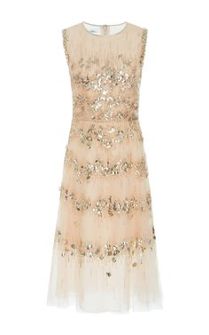 Embellished Tulle Cocktail Dress by OSCAR DE LA RENTA Now Available on Moda Operandi