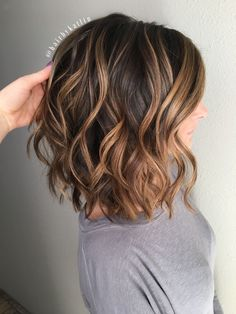 Image result for dark brown hair with caramel balayage