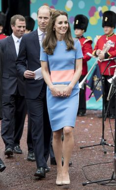 Roksanda Ilincic dress was a hit at a street party for the Queen's 90th birthday last year. Retail price: £980