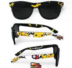 8c6f69865a Pokemon sunglasses Pikachu gift for him Pokemon go men women geek girl gift  customized birthday gift for gamer girl wayfarer video game