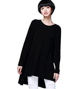 Minibee Women's Dolman Sleeve Knit Irregular Sweater Black Minibee http://www.amazon.com/dp/B0147VRUE6/ref=cm_sw_r_pi_dp_hcN3vb12RZ8K9