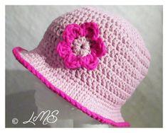 rosa Sommerhut mit Blume, Sonnenschutz