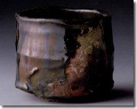 Kuro Oribe by Takauchi Shugo Most chawan are just utensils until they are placed in the context of a Tea room; then they become art.