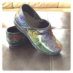c681e7aa5 Hand painted Dansko Clog Beautiful hand painted Dansko clog! Worn a handful  of times