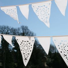 White lace Wedding bunting