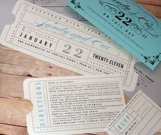 train ticket style w/ turquoise
