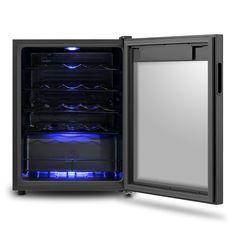 weink hlschrank m 168d farbe weinschrank schwarz glas. Black Bedroom Furniture Sets. Home Design Ideas